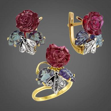 кольцо золото аквамарин
